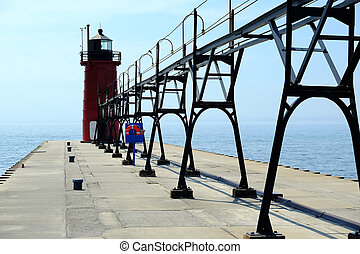 South Haven Lighthouse, built in 1903