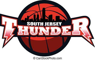 South Jersey Thunder - A great design for a basketball team....