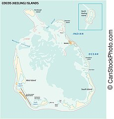 south keeling islands map