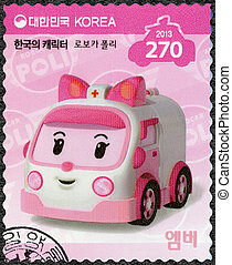 SOUTH KOREA - 2013: shows Amber, the kind of ambulance which...