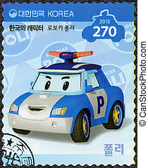 SOUTH KOREA - 2013: shows Poli, the police car which is the...