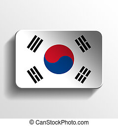 South Korea 3D button