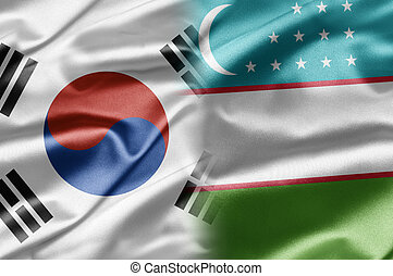 South Korea and Uzbekistan