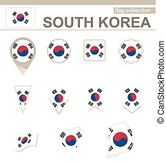 South Korea Flag Collection