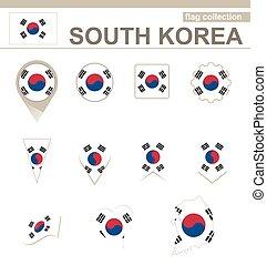 South Korea Flag Collection