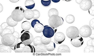 South Korea flag of soccer balls