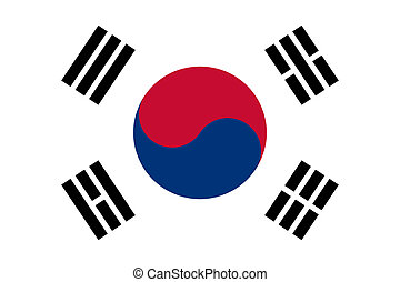 South Korea flag - Sovereign state flag of country of South...
