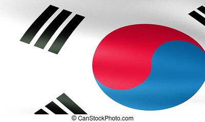 South Korea Flag Waving