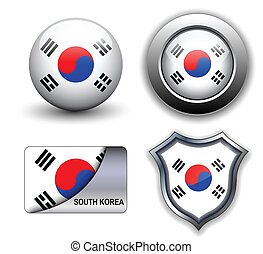 South Korea icons - South Korea flag icons theme.
