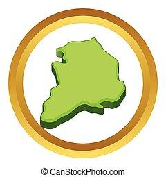 South Korea map vector icon