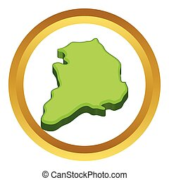 South Korea map vector icon