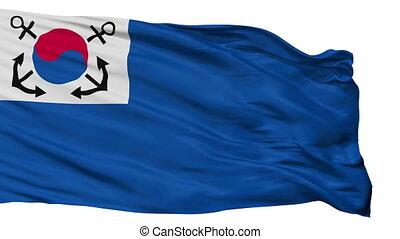South Korea Naval Jack Flag Isolated Seamless Loop - Naval...