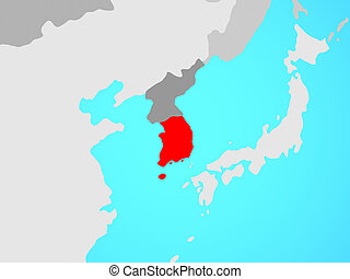 South Korea on map