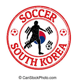 South Korea soccer stamp