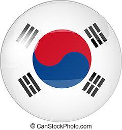 south korea - illustration of a button south korea