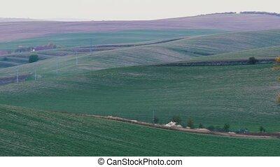 South Moravian autumn fields, Moravia, Czech Republic