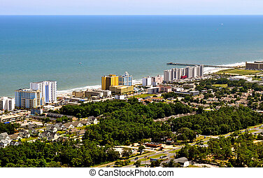 South Myrtle Beach - beachscape view-1 - South Myrtle Beach...