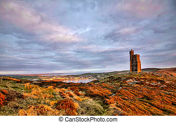 South of the Isle of Man with Milner Tower