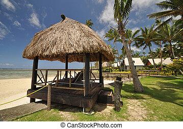 South Pacific beach hut