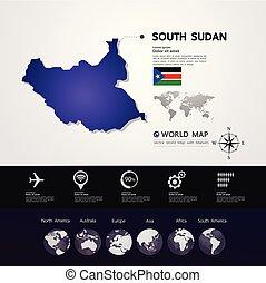 South Sudan Map vector