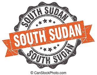 South Sudan round ribbon seal