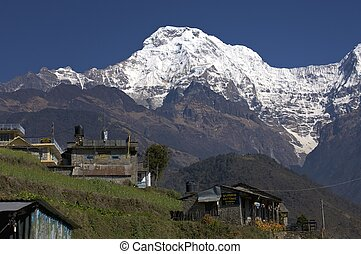 South summit of anapurna at first light - Annapurna in the ...