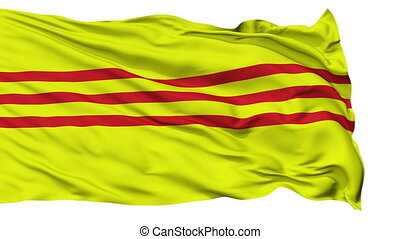 South Vietnam Micronation Isolated Waving Flag - South...