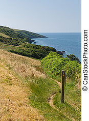 South West Coast Path Polkerris - South West Coast Path from...
