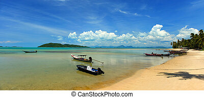 A view off the south west coast of Koh Samui in the Gulf of Thailand.