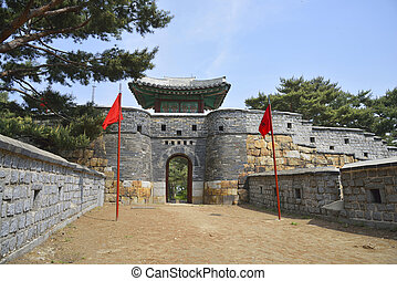 South-West Secret Gate of Sunwon Hwaseong called 'Seonam ammun' in Korean