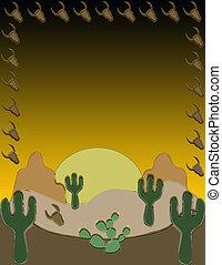 South western landscape, illustration.