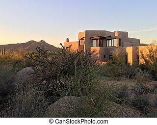 South West, USA, desert sunset