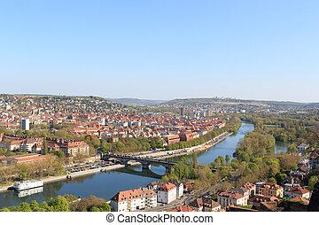 South Wurzburg with bridge