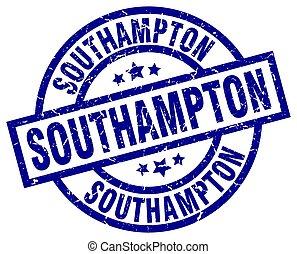 Southampton blue round grunge stamp