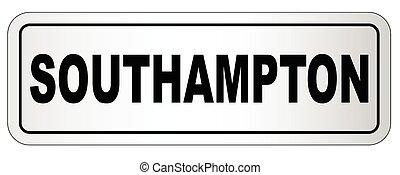 Southampton City Nameplate - The city of Southampton...