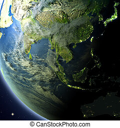 Southeast Asia from orbit - Southeast Asia from Earth's ...