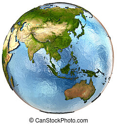 Southeast Asia on Earth - Southeast Asia on highly detailed ...