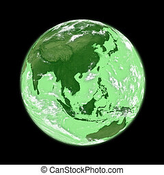 Southeast Asia on green Earth - Southeast Asia on green ...