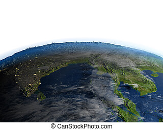 Southeast Asia on planet Earth - Southeast Asia. 3D ...