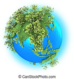 Southeast Asia on planet Earth - Southeast Asia on grassy ...