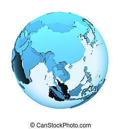 Southeast Asia on translucent Earth - Southeast Asia on ...