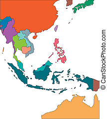 Southeast Asia with Editable Countries