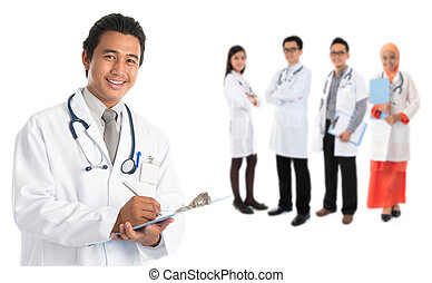 Southeast Asian doctors - Group of southeast Asian doctors...