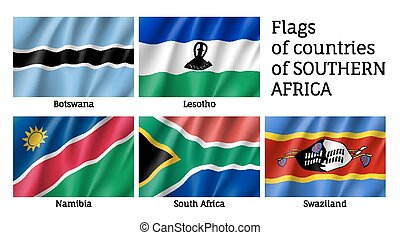 Southern Africa flat flag set