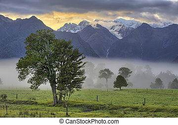Southern Alps in early morning light