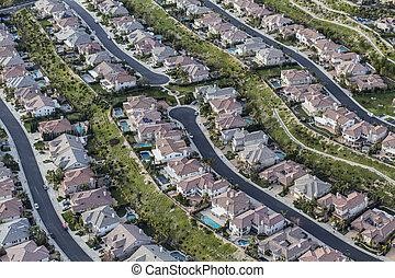 Southern California Clean Suburban Streets Aerial