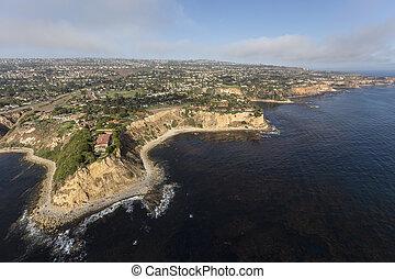 Southern California Coast Aerial Rancho Palos Verdes
