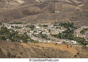 Southern California Hillside Suburb
