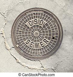 Southern California Manhole Cover