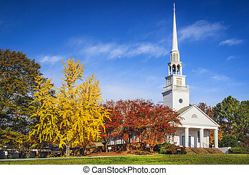 Southern Church - Traditional southern church in the autumn...